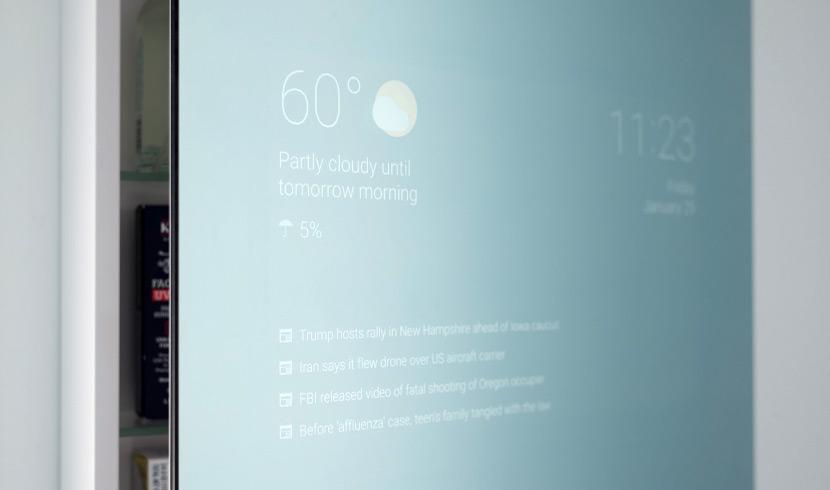google smart mirror max braun Empleado de Google crea un espejo inteligente de baño