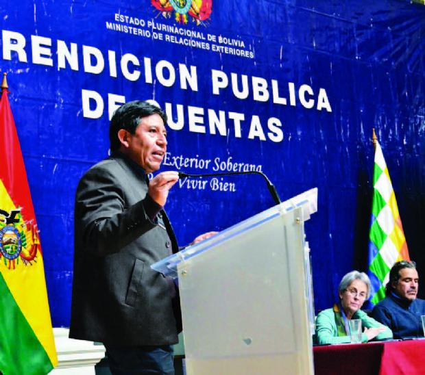 El Canciller omite a Rodríguez Veltzé y a Mesa en su informe