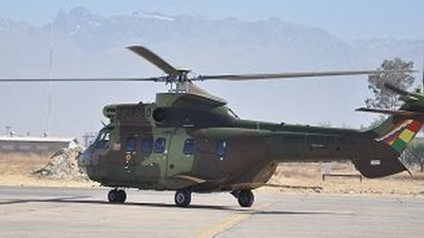 El tercer helicóptero Jatun Puma entregado a la FAB