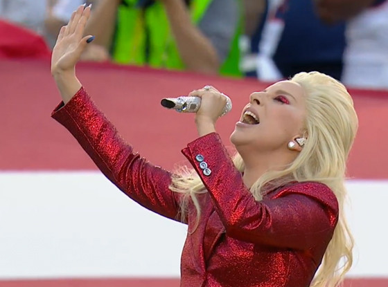 Lady Gaga, Super Bowl 2016, national anthem