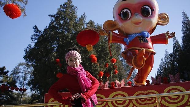Imagen de los preparativos para el año nuevo chino en Pekín