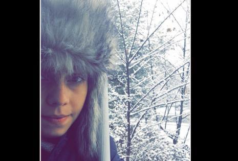 Desde Estados Unidos. La bloguera Claci Aponte no tiene miras de carnavalear en tremendo frío