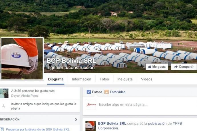 La empresa china BGP Bolivia tiene tres contratos millonarios con Bolivia. Foto: Facebook