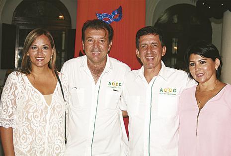Helen Jablonski, Joaquín Banegas (presidente), Jorge Pontons y Karine de Pontons