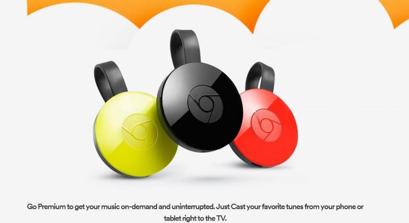 chromecast 830x453 Spotify regala un Chromecast por la suscripción de tres meses de Premium en EEUU