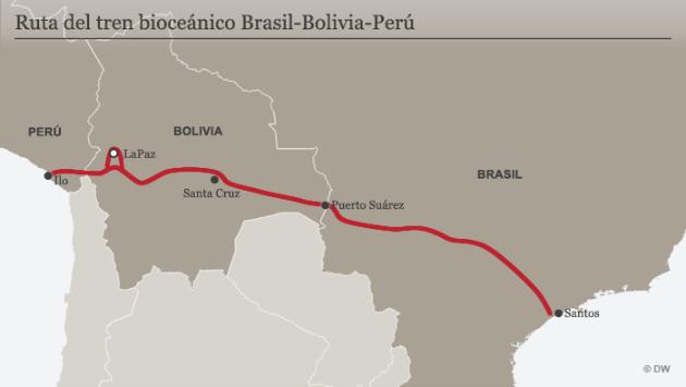 Tren Bioceánico también pasaría por Bolivia (DW)