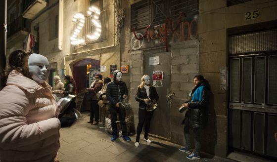 Protesta de prostitutas en el Raval