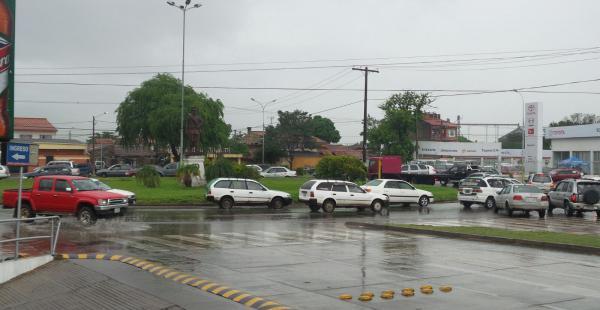 Lluvia en Santa Cruz este sábado por la mañana