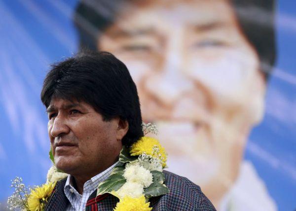 Evo Morales, en acto de campaña