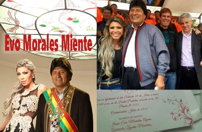 Evo Morales Miente tratando de desmetir sus actos de corrupcion