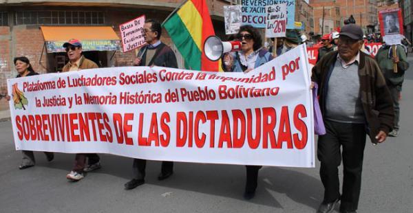 Amnistía Internacional denunció hoy que las víctimas de violaciones de derechos humanos en Bolivia cometidas durante los gobiernos militares del pasado seguían en 2015 sin poder acceder a la verdad, la justicia