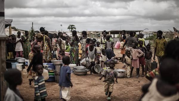 Refugiados en un campo de desplazados en Bangui, la capital de la República Centroafricana. / AFP