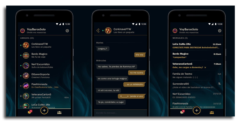 amigos de lol app La app de mensajería para League of Legends disponible en Android