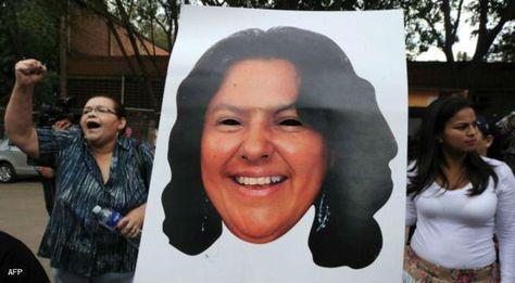 El asesinato de Berta Cáceres causó protestas en Honduras. Foto: AFP