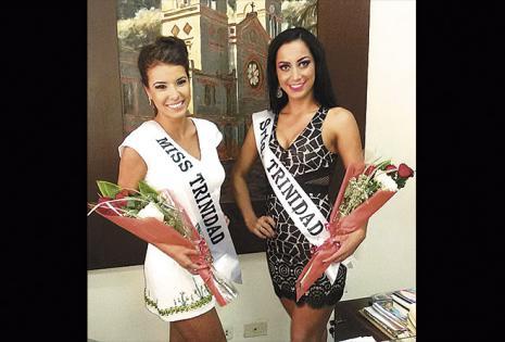 Issel Suárez Menacho (miss Trinidad) y Marita Rivero Montero (srta. Trinidad 2016)