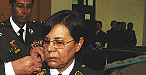 Rosa Lema ascendió ayer al grado de generala de la Policía