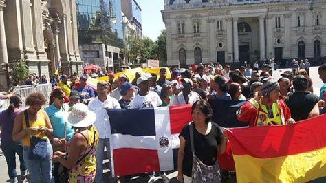 Protesta en febrero de extranjeros en Chile por incremento del costo de visas