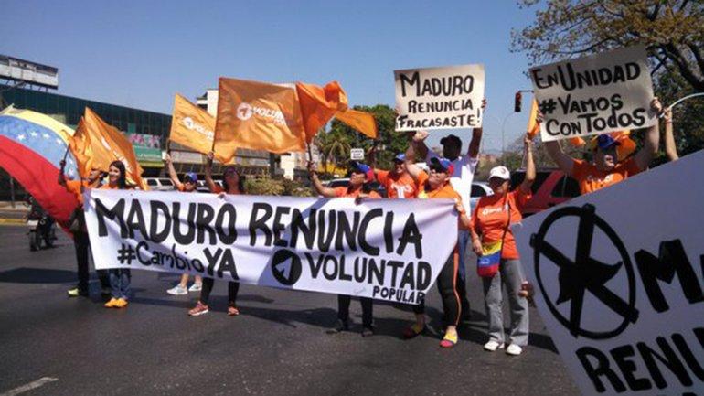 Venezuela sale a las calles para protestar contra el chavismo