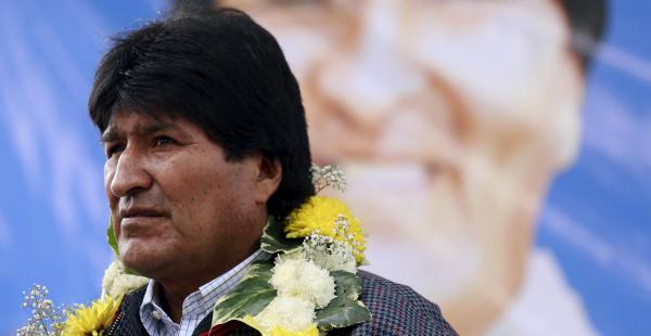 El presidente Evo Morales durante una entrega de obras en febrero de este año
