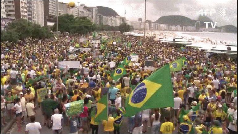 Río de Janeiro Brasil marcha video