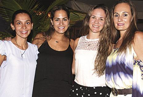 Celia Balcázar, Mariela Ortiz, María Laura Mendoza y 'Nina' Vaca Pereira