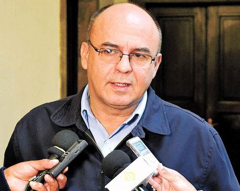 Autoridad. El ministro Reymi Ferreira, el lunes, en el Palacio de Gobierno.