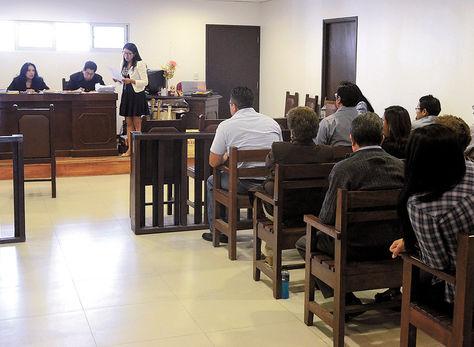 Proceso. La audiencia del caso El Abra II que se desarrolló desde el miércoles en Sacaba, Cochabamba.