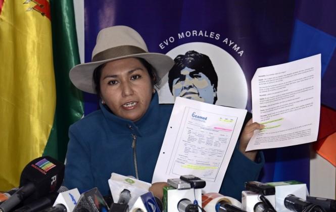 Ministra Paco pone en duda que Zapata haya sido menor de edad cuando concibió un hijo con Evo