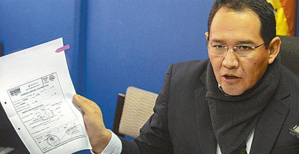 El fiscal Guerrero habló ayer con EL DEBER sobre el caso del hijo del presidente