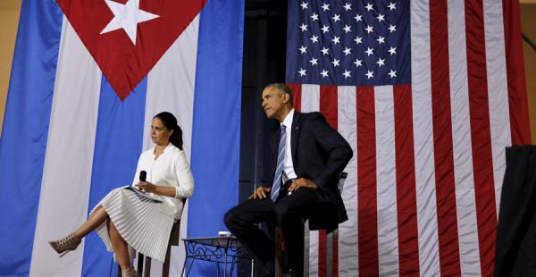 El presidente de Estados Unidos, Barack Obama, en un foro con emprendedores cubanos