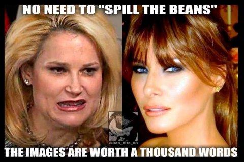 Heidi Cruz y Melania Trump