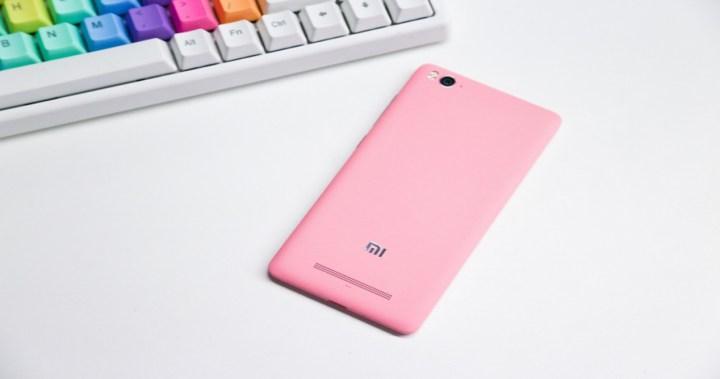 xiaomi mi4c de color rosa