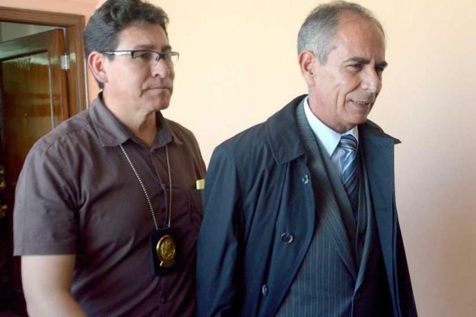 DETENIDO. El vocal Fernando Ganam en la ciudad de La Paz.