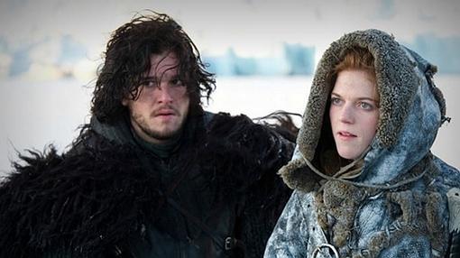 Imagen de ambos en el set de la serie