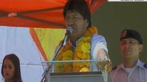 El presidente Evo Morales en Tarija
