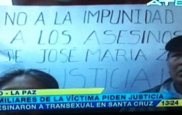Piden pena máxima para asesino del transexual Jose Maria Zarate