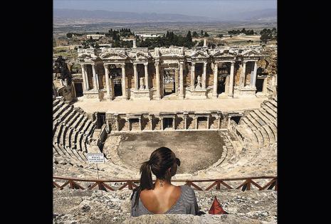 'Nanda' aprovechó su viaje a Turquía para poder hacer algo que durante muchos años no consiguió: ver, escuchar  y conocer los rincones que en una rutina deportiva no podía hacer