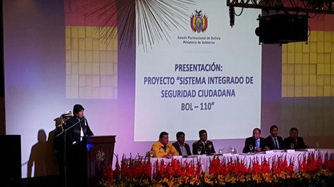 El presidente Evo Morales interviene en la 'Cumbre de seguridad ciudadana'