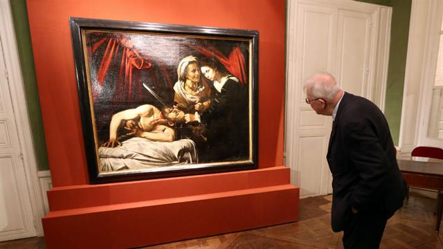 La obra, que muestra a la heroína bíblica Judith decapitando a un general asirio