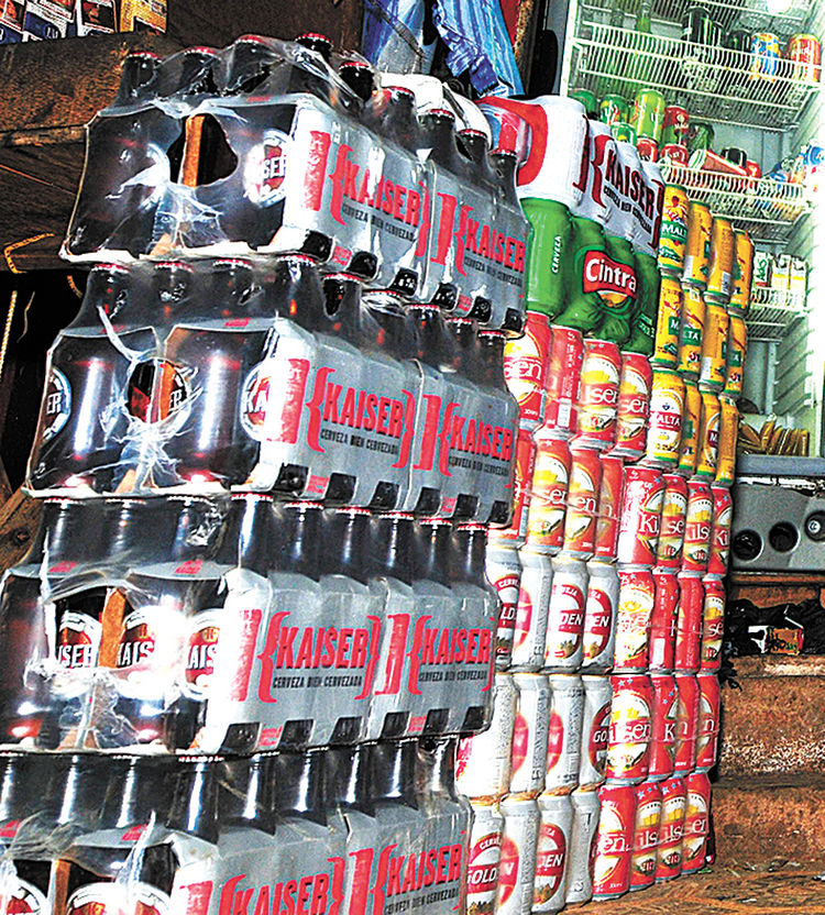 Cerveza brasileña que ingresa a Cobija. Foto: Victor Gutiérrez-archivo