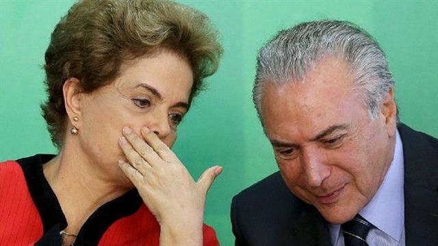 Al igual que Rousseff, el vicepresidente brasileño y actual adversario de la mandataria, Michel Temer, enfrenta el riesgo de ir a un juicio político.