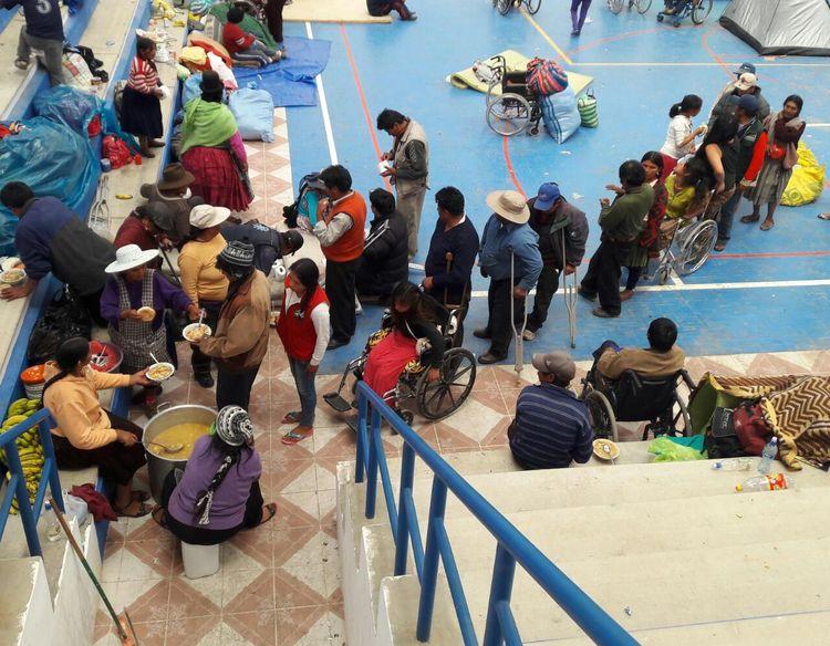 Discapacitados en Patacamaya, foto: La Razón