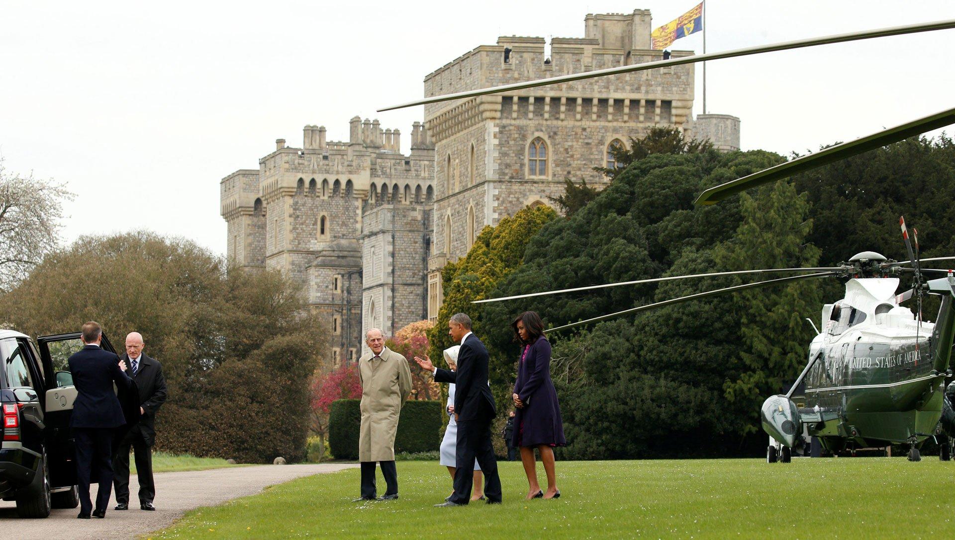 El castillo de Windsor es la residencia actual de Isabel II