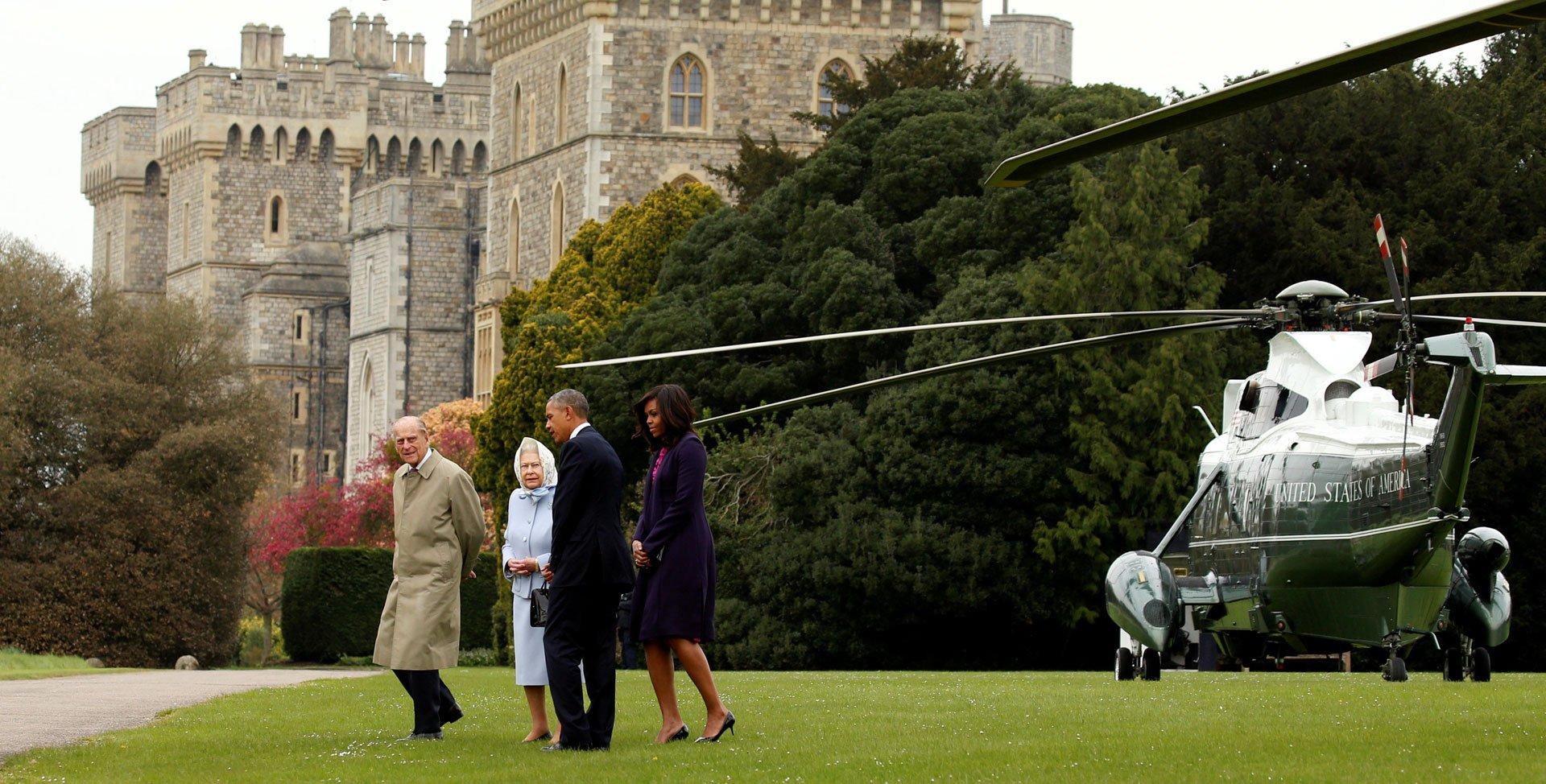 El almuerzo privado con los monarcas es parte de la agenda oficial de Obama