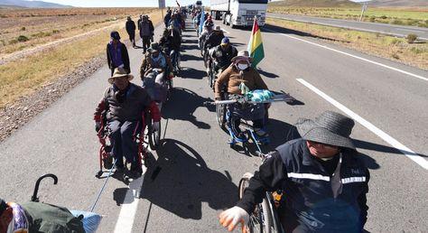 Marcha de discapacitados
