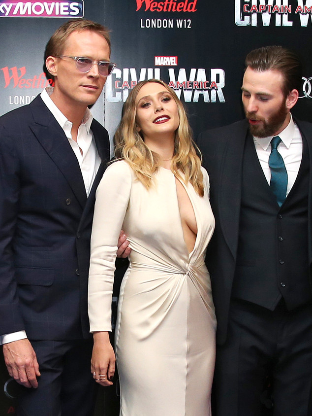 Paul Bettany, Elizabeth Olsen, Chris Evans