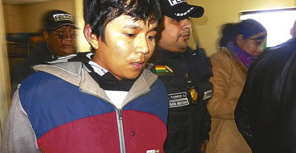 Isaí Mory Guevara fue presentado ayer al mediodía ante una jueza