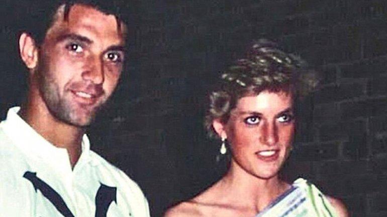 Slobodan Živojinović y Diana Spencer, en 1987. La princesa todavía estaba casada con el príncipe Carlos