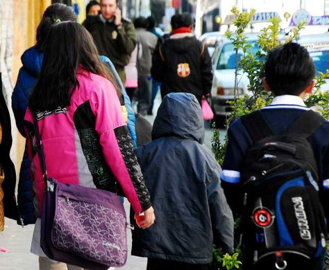 Escolares de la sede de Gobierno. Foto: Miguel Carrasco