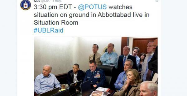 """El presidente, sentado en la """"Situation Room"""", la sala para reuniones de inteligencia en el sótano del Ala Oeste de la Casa Blanca"""